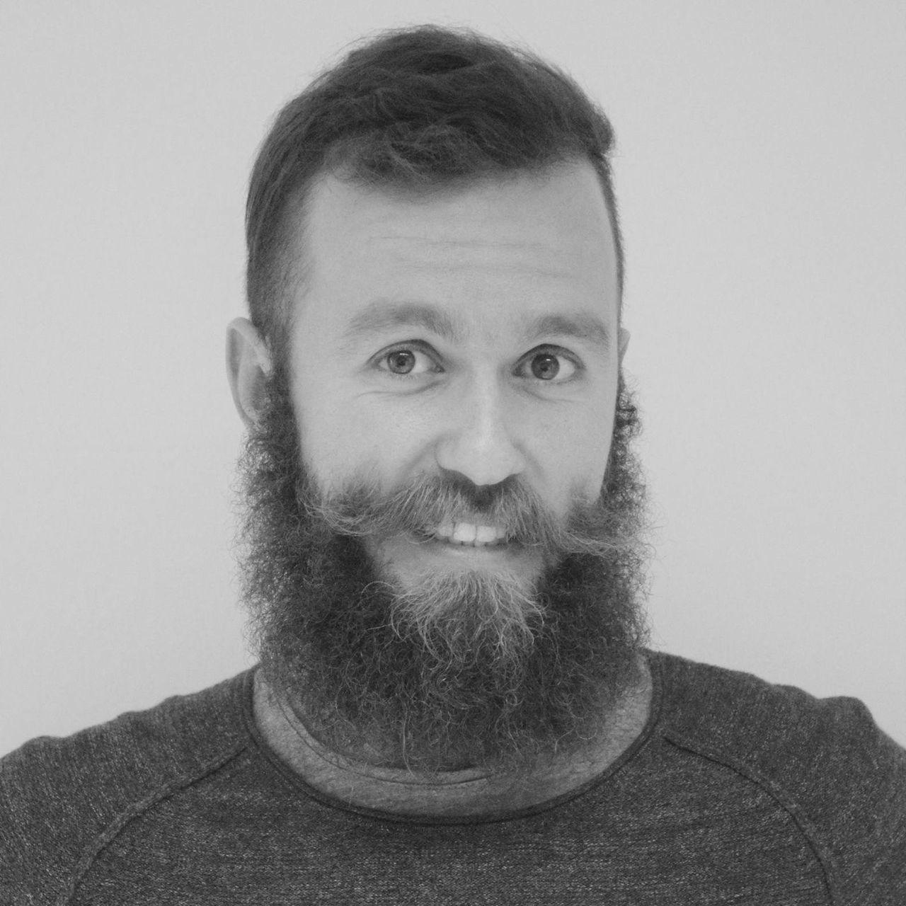 Bearded Beards Blackandwhite Confidence  Mustache Portrait Profile Random Real People First Eyeem Photo