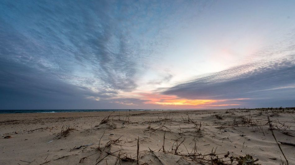 Beach Sea Sand Nature Sky Scenics Sunset Beauty In Nature Tranquility Cloud - Sky Horizon Over Water Tranquil Scene Water Sun Outdoors No People Day