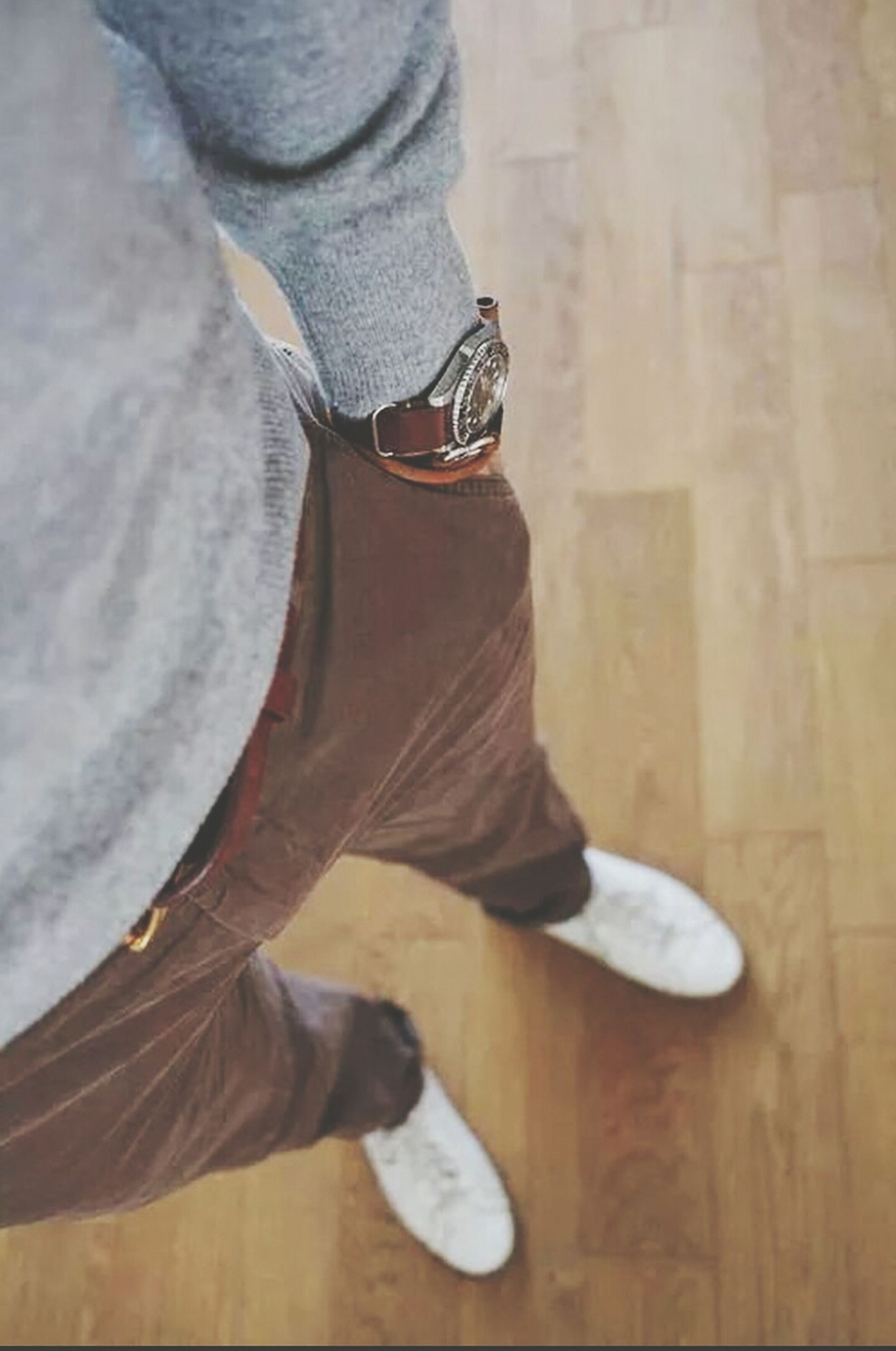 low section, person, shoe, lifestyles, jeans, standing, casual clothing, footwear, leisure activity, men, human foot, personal perspective, indoors, sitting, unrecognizable person, high angle view