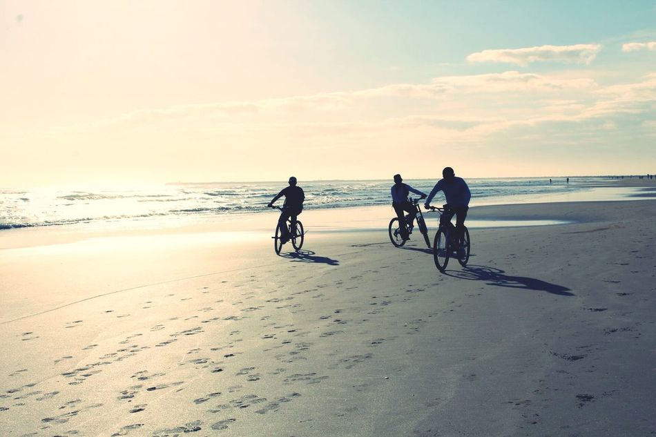 Beautiful stock photos of friends, Beach, Beauty In Nature, Bicycle, Bonding
