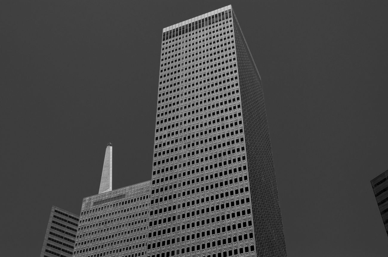 Sky Architecture Skyscraper Built Structure City Modern Travel Destinations Low Angle View Building Exterior Blackandwhite Blackandwhite Photography Monochrome Business Finance And Industry No People Outdoors Day