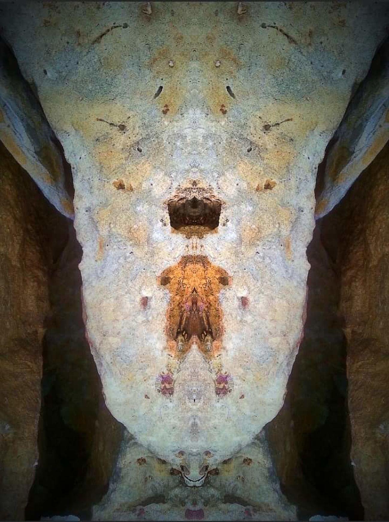 Rocks Glitch Double Exposure Alien Antient Artifact