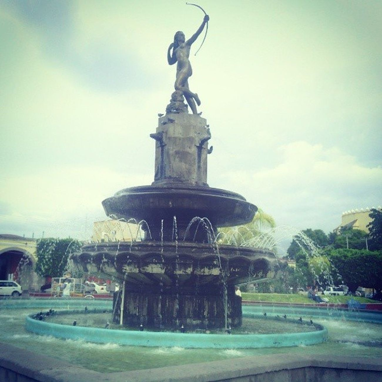 I Remember Sitting At This Fountain Waiting To Buy Some Ice Cream When I Went In 2005 :') It Was Unique :') ❤ I Miss It :'3 IxmiquilpanHgo ImFromThere Mexico