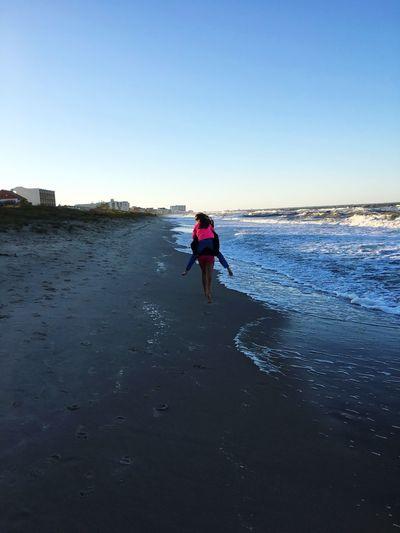 Clear Sky Beach Piggyback Water Sisters ❤