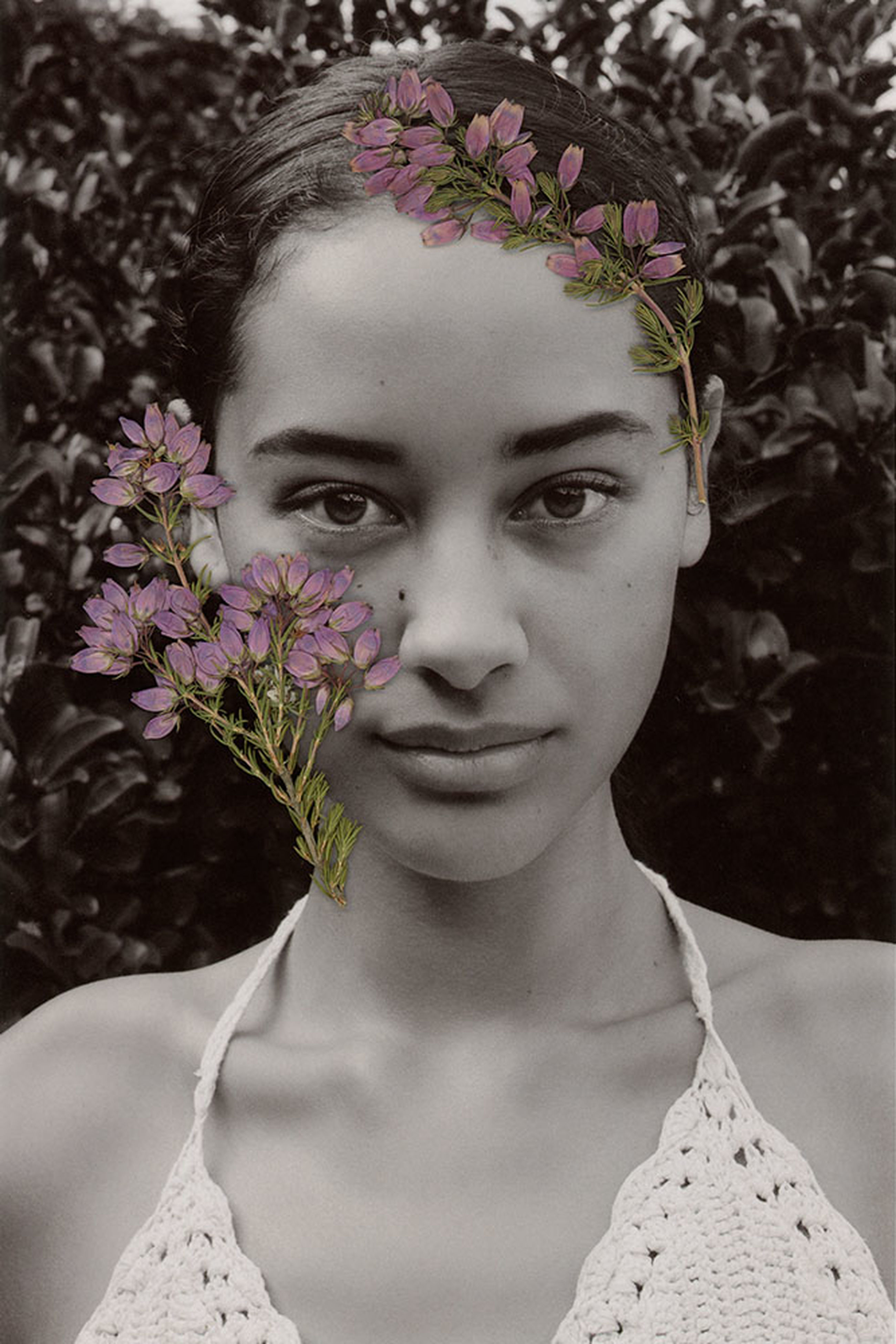 flower, headshot, close-up, portrait, lifestyles, fragility, focus on foreground, plant, growth, day, nature, outdoors, human face, petal, casual clothing, pink color, beauty in nature