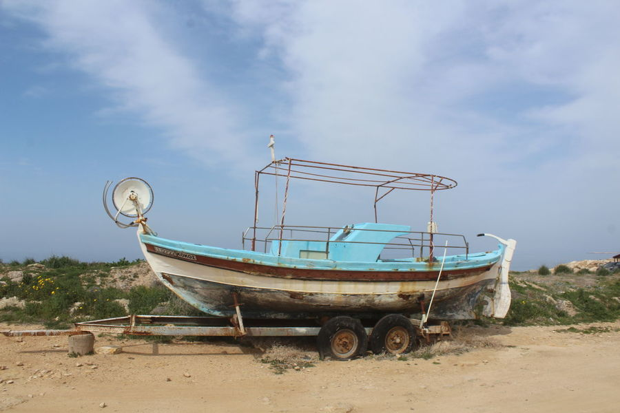 Abandoned Beach Boat Day Nautical Theme No People Outdoors See Life
