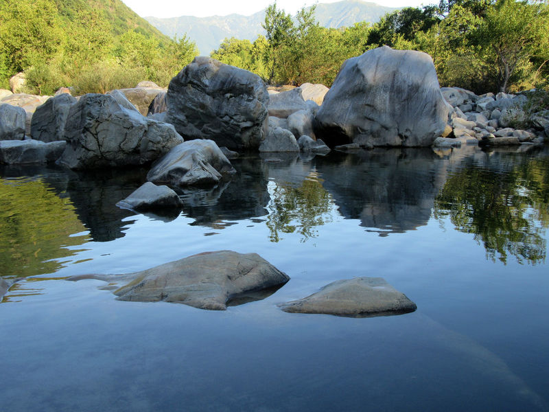 Beauty In Nature Day Nature No People Outdoors Point Of View Reflection Riverside Rock Rock - Object Valle Maggia, Switzerland Water