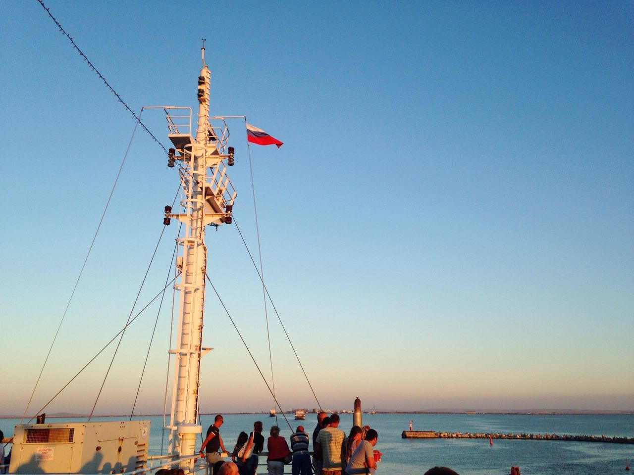 Dreams transportation Water Clear Sky Transportation Sea Nautical Vessel Mode Of Transport Flag Tranquil Scene Scenics Tranquility Ship Blue Seascape Ocean Vacations Day Tourism Flying Non-urban Scene National Flag Beautiful Russia
