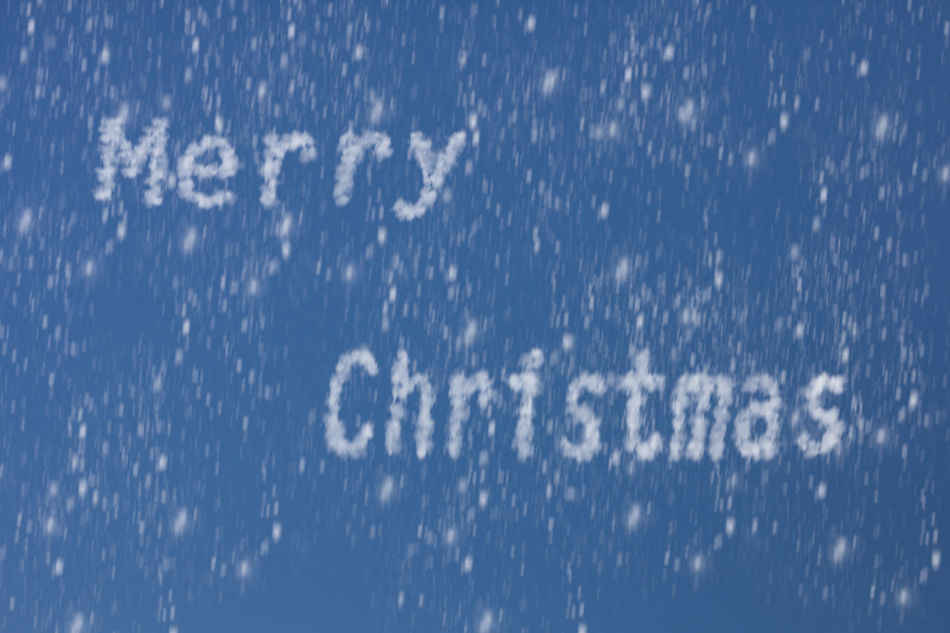 written with snow and snow from the sky Background Celebration Christmas Claus December Decoration Festive Holiday Merry Santa Sky Snow White Winter Xmas