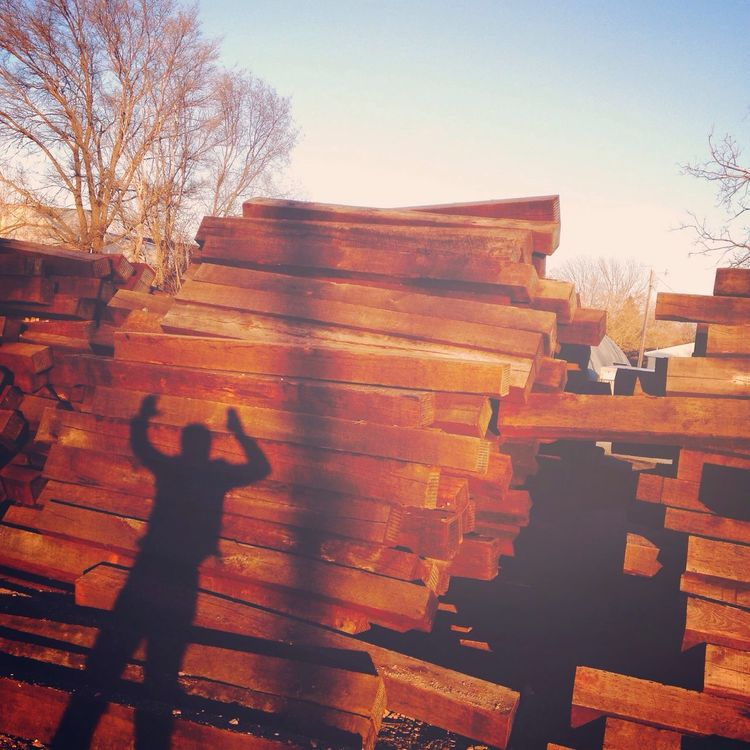 Lincoln Logs Real People Lifestyles One Person Outdoors Silhouette Sunset Tree Men Motion Day Sky Architecture Nature Human Hand EyeEmNewHere EyeEmNewHere