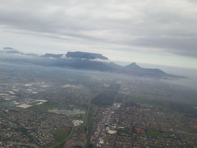 Leaving Cape Town for Johannesburg. From An Airplane Window From Where I Sit Cape Town Beauty