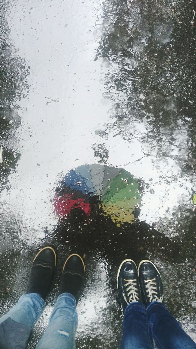 Photography All Excellent EyeEm Photo Colorful Spring Water Rainbow Rain Umbrella Mirror Picture Girls