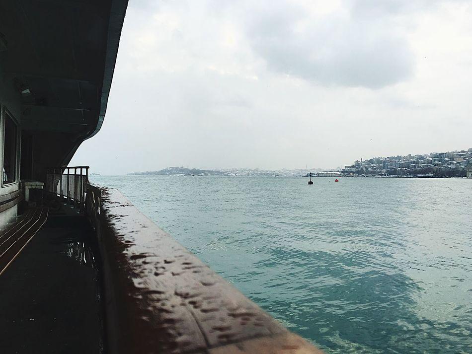 Bosphorus Istanbul Ferry Rain Drops