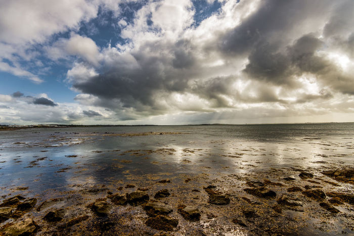 Beach Beauty In Nature Cloud - Sky Day Galway Horizon Over Water Ireland Landscape Low Tide Luminosity Nature No People Outdoors Rocks And Water Sand Scenics Sea Sea And Sky Sky Sunset Tide Water