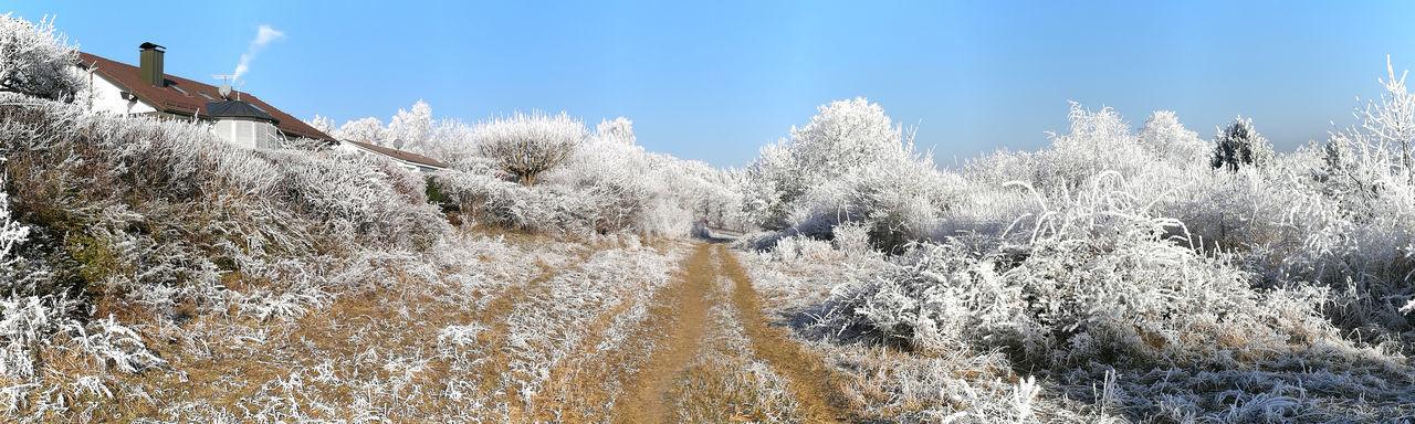 Badenwürtenberg Germany Heidenheim Heimat Landschaft Neujahr Neujahr 2017 Neujahrsspaziergang No People Outdoors Panorama Raureif  Schnee Sky Winter — In Heidenheim An Der Brenz