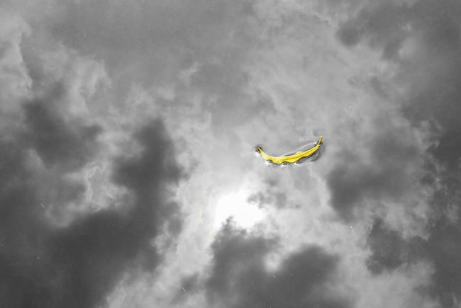 Mid-air Low Angle View Sky Flying Cloud - Sky Day Outdoors Nature Parachute One Person Thailand Yallow Reflex Glass
