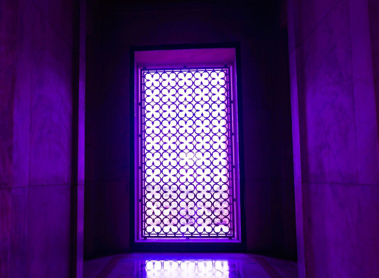 indoors, window, no people, purple, architecture, built structure, day, close-up