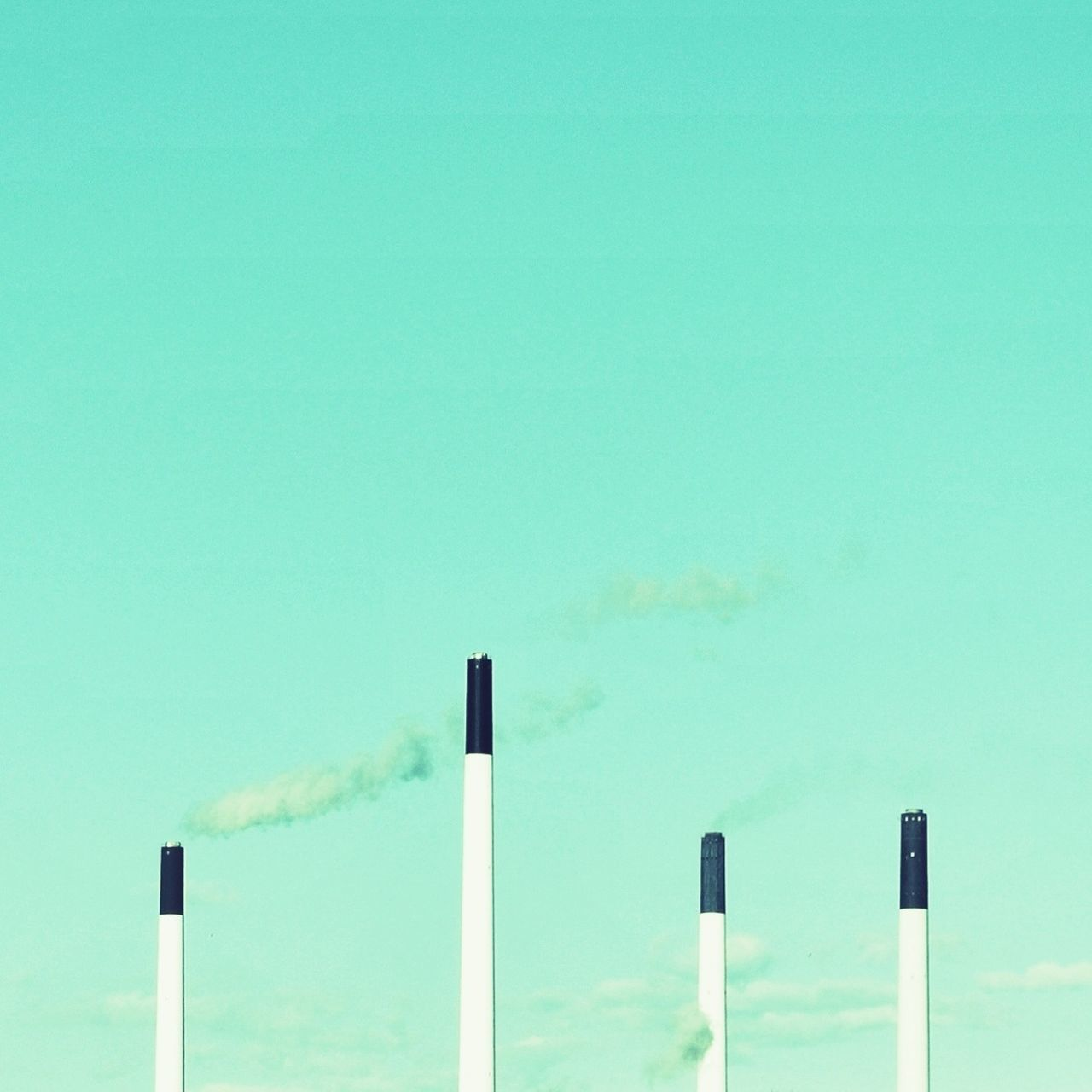 Beautiful stock photos of smoke, Air Pollution, Chimney, Clear Sky, Copy Space