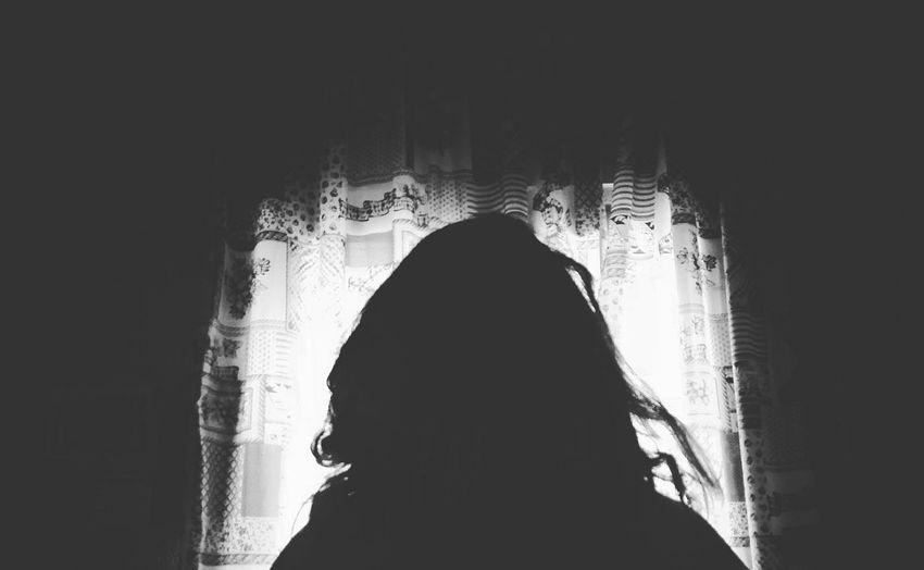 Silhouette Darkness Light Woman