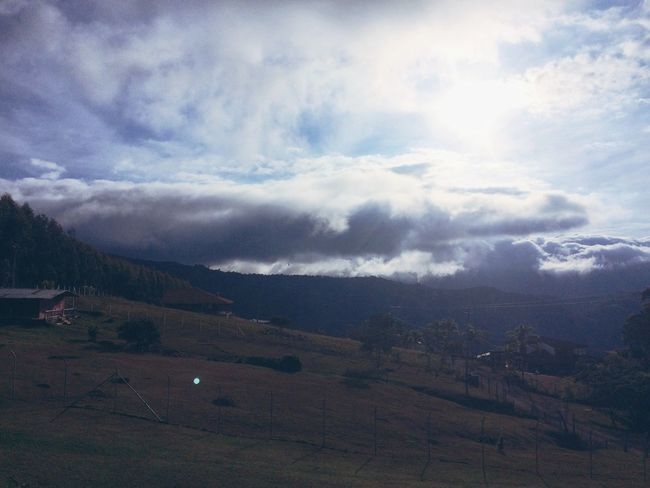 Landscape Tranquil Scene Cloud - Sky Scenics Beauty In Nature Mountain Non-urban Scene Sky Tranquility Nature Cloudy Cloud Rural Scene Countryside Majestic Day Outdoors Adventure Travel Mountain Range Dark CALI COLOMBIA
