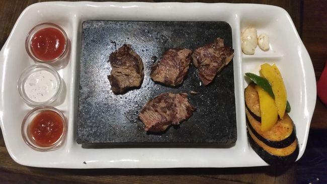 Meat! Meat! Meat! Meat On Stone Horse Meat Grill Kazakhstan Astana Kazakh Life Kazakh Food