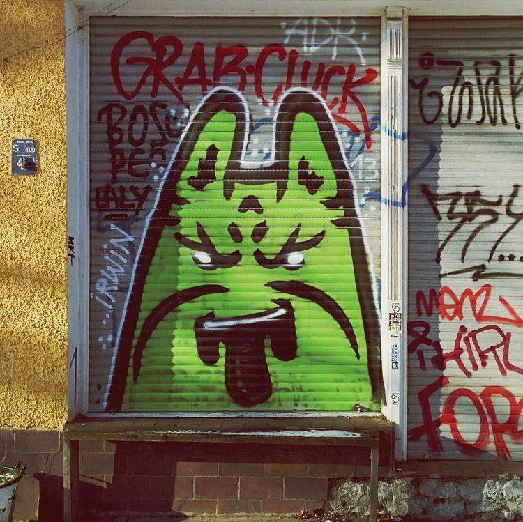 A spate of Pikachu Graffiti by a Berlin Streetart artist. Blueyellowgreenorangeblue