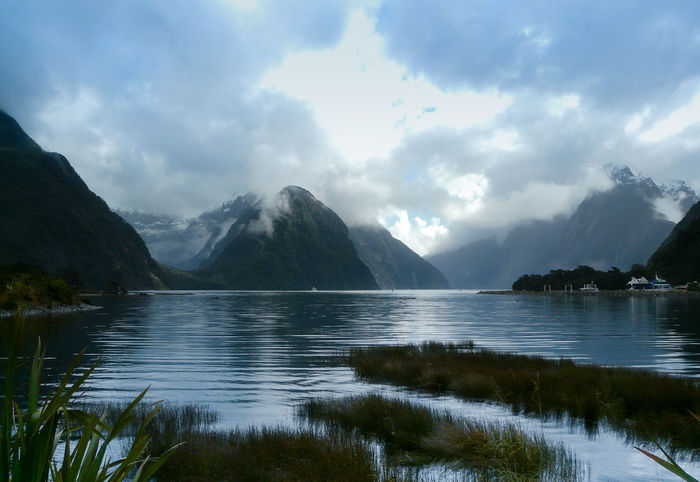 Beautiful Milford Beauty In Nature Cloudy Day Lake Milford Sound Mitre Peak Moody Moody Sky Mountain Nature New Zealand Beauty New Zealand Landscape New Zealand Scenery No People Outdoors Scenics Sky South Island New Zealand Water Weather
