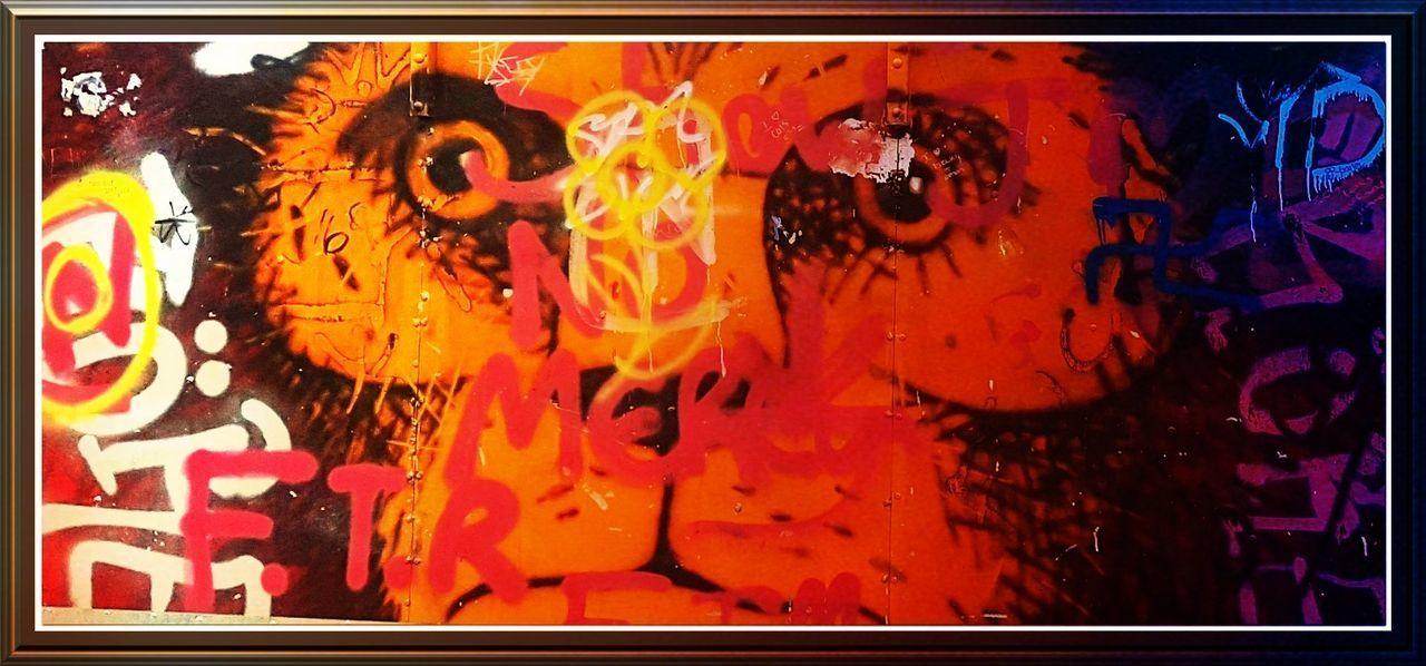 No People Vandalism? Vandalism An Art Trend Multi- Coloured Monkey Face Art Around Us Art Is Everywhere Artistic Expression Art