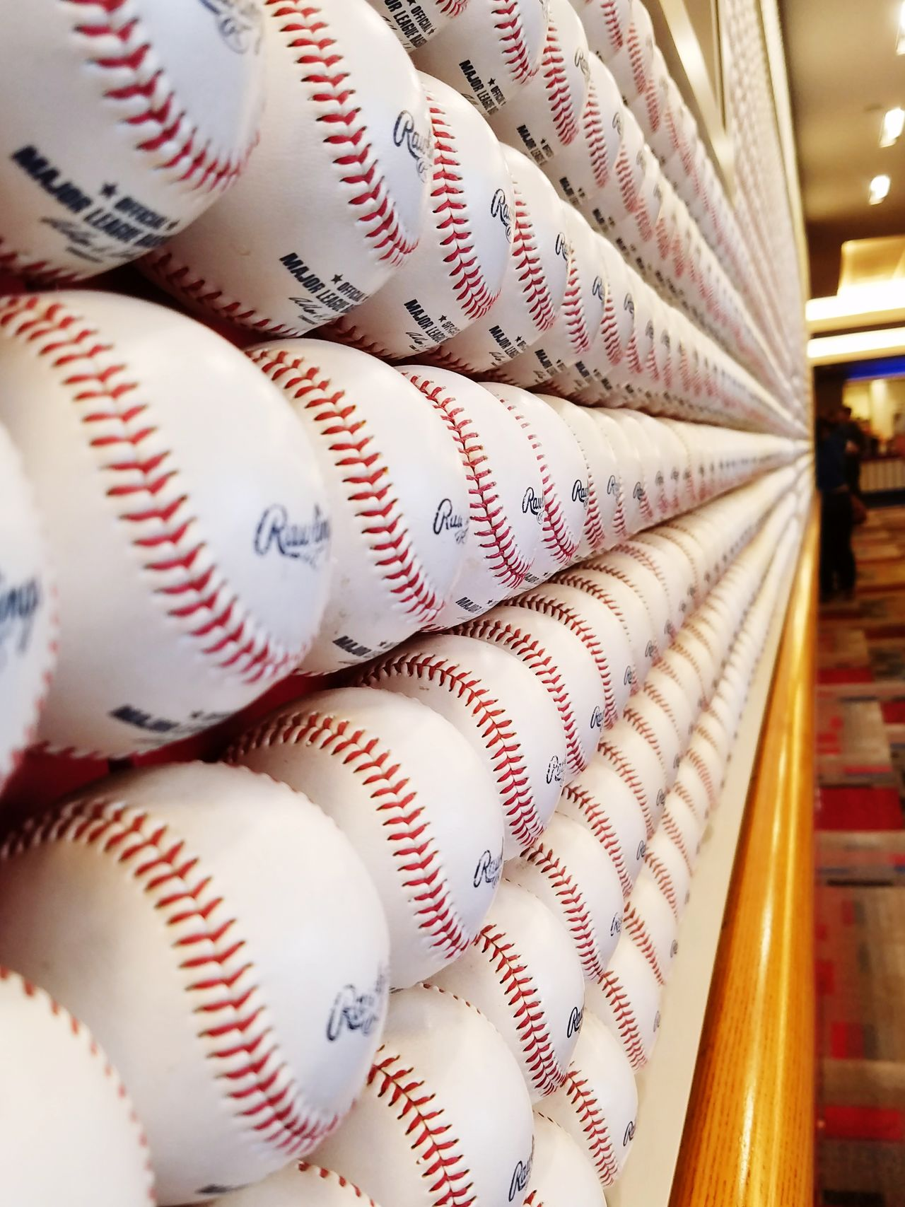 Indoors  No People Baseball Baseballs Wall Of Baseballs Hall Of Fame So Many Balls America's Favorite Pastime Sport Sports Beerfest
