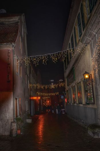Lights Christmas Littletown Outside Night Indoors  Architecture No People Illuminated City