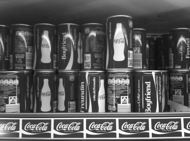 Coca Cola Monochrome Blackandwhite Consumerism