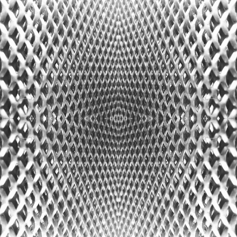 Hyperphotography, Hyper Raster Backgrounds Full Frame Textured  Metal Pattern Seamless Pattern Abstract Repetition Close-up Indoors  Day No People Shape Sheet Metal B&w Photography Abstractphotography B&W Collections Shades Of Grey Indoors  Hexagon Grid RASTERED Rasterized Minimalist Architecture Mobile Conversations Welcome To Black
