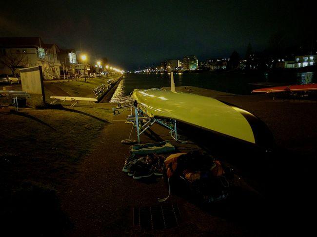 Regatta Night View Night Lights Scenery Toniht The Tokyo Orimpic Games In 1964 Rowing Course Relaxing Night Shot Night Jog Boat
