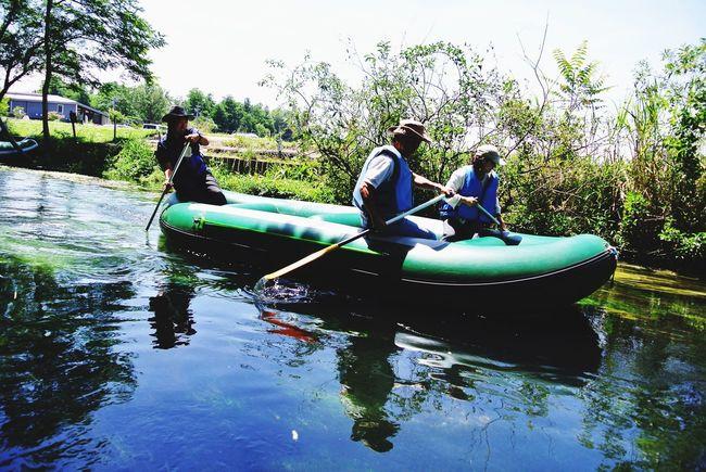 長野県 安曇野市 大王わさび農場 Japan Nagano Azumino Daiou Wasabi Farm Nature River Spring Water Transparency Boat