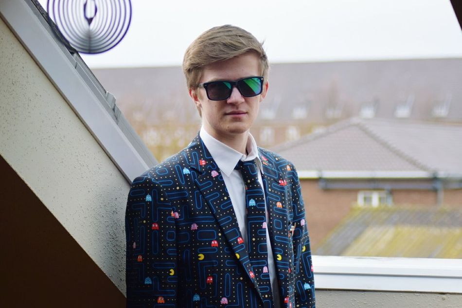 Sunglasses Fashion One Person Front View Adults Only Portrait Young Adult Adult People Cool Attitude Confidence  Arts Culture And Entertainment One Man Only Day One Young Man Only Only Men Well-dressed Outdoors Parking Garage Pacman Suit