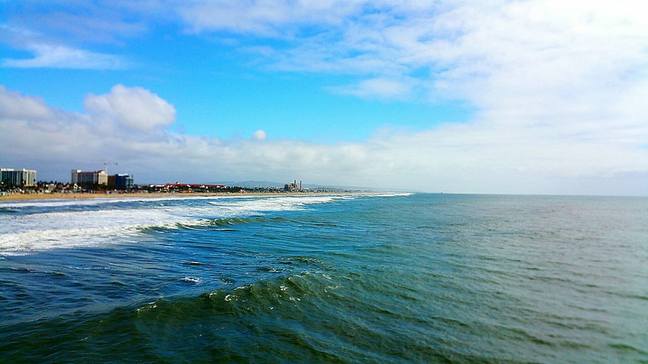 Sea Beach Water Cloud - Sky Horizon Over Water Wave Nature Sky Outdoors Hbpier Beach Photography Sharpen Saturation Scenics Day Beauty In Nature Godrules