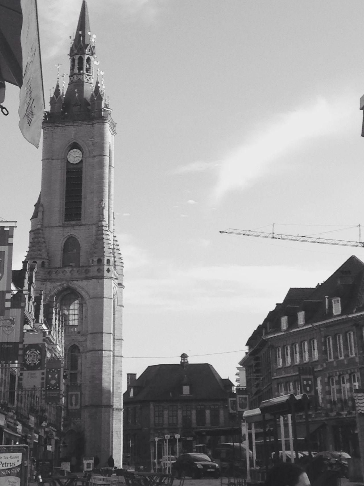 Beffroi EyeEm Best Shots Iphonephotography Tournai Belgium♡ Blackandwhite