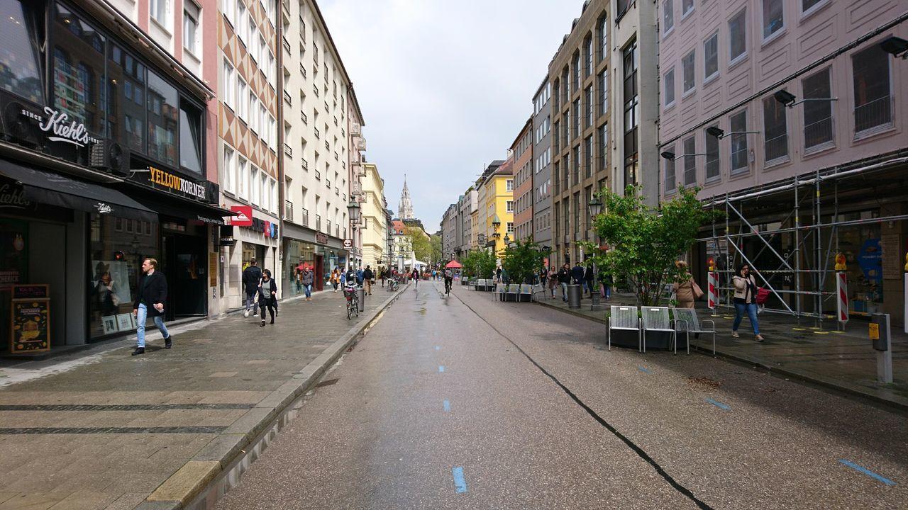 Sendlinger Straße after the rain. · München Munich Germany M 089 Sendlinger Straße Down The Street Street Road Pavement Rain After The Rain Urban Landscape Gray Sky