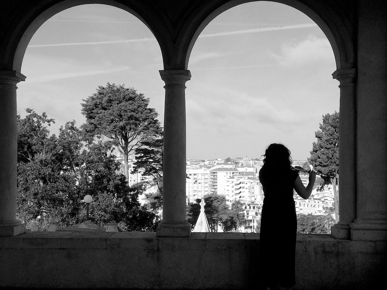 Adapted To The City Architecture The Week On Eyem Blackandwhite Bow Church City Contrast Cornerstone Flute Flute Player Girl History Landscape Leiria Luminosity Marble Music Old Places Peace Portrait Portrait Of A Woman Sky Tranquility View