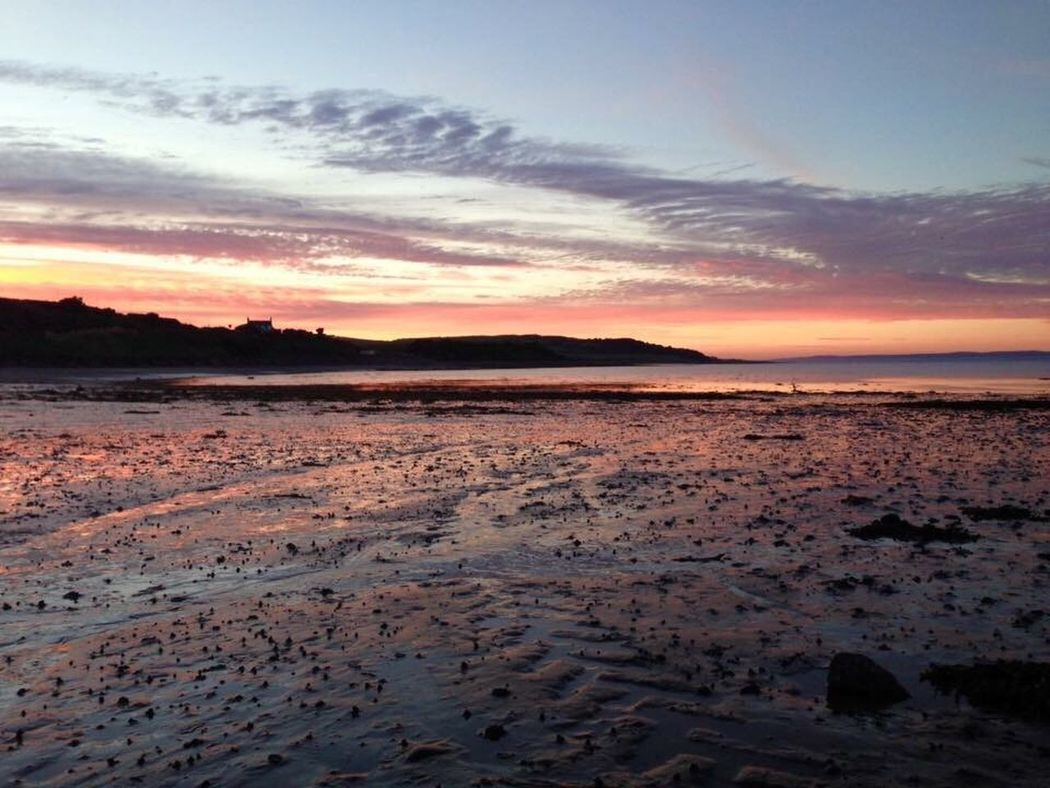 Sunset Nature Beauty In Nature Sky Scenics Tranquil Scene Outdoors Tranquility Beach Cloud - Sky Water Sea Dramatic Sky Cold Temperature No People Landscape Scotland Drummore