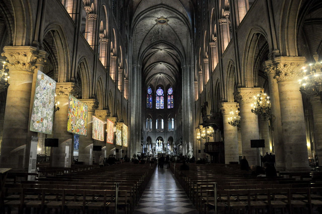 Inside Notre Dame Cathedral Paris, France. Paris Paris, France  Cathedrals  Cathedralenotredame Cathedral Decor Architecture Architecturelovers Architecture_collection Europe Eurotrip Wheninparis  Visitparis Travel Traveling Travel Photography