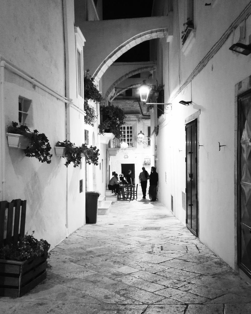 Locorotondo Blackandwhite Puglia Apúlia Apulia Italy Italia Puglia Night Nightphotography Scorci Architecture People Outdoors My Year My View Summer Summertime Summer Evening