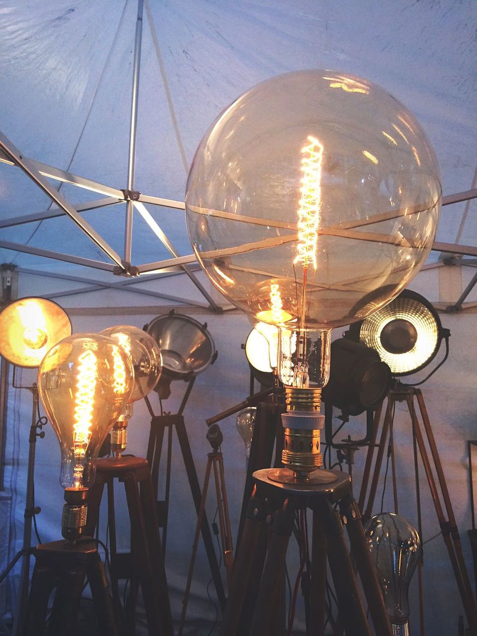 Lamps Light Brocante Market Street Market Antique Paris Illuminated Lighting Equipment No People Light Bulb Electricity