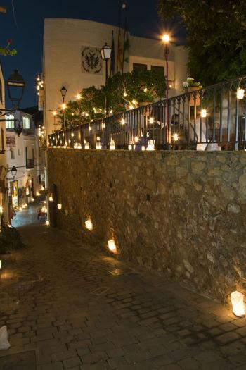 Una noche magica . THE NIGHT OF THE CANDLES MOJACAR 2017 Almería Moments Napatu 2017 Romantic Architecture Building Exterior City Illuminated Lighting Equipment Mojacar Mojacar Pueblo Night No People Street Light Breathing Space