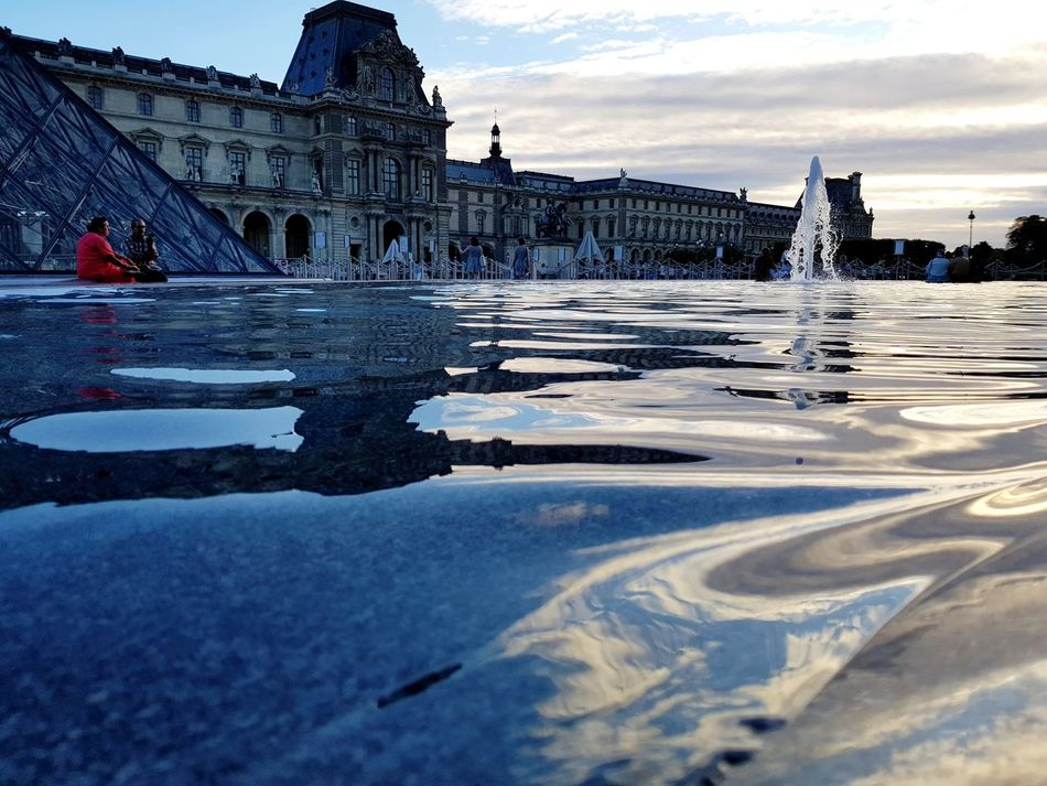 Architecture Travel Destinations History Built Structure Water Travel Sunset Building Exterior Sky Outdoors Day City Louvre Paris, France  Bestshot Galaxy S8+ Photography EyeEmNewHere The Week On EyeEm