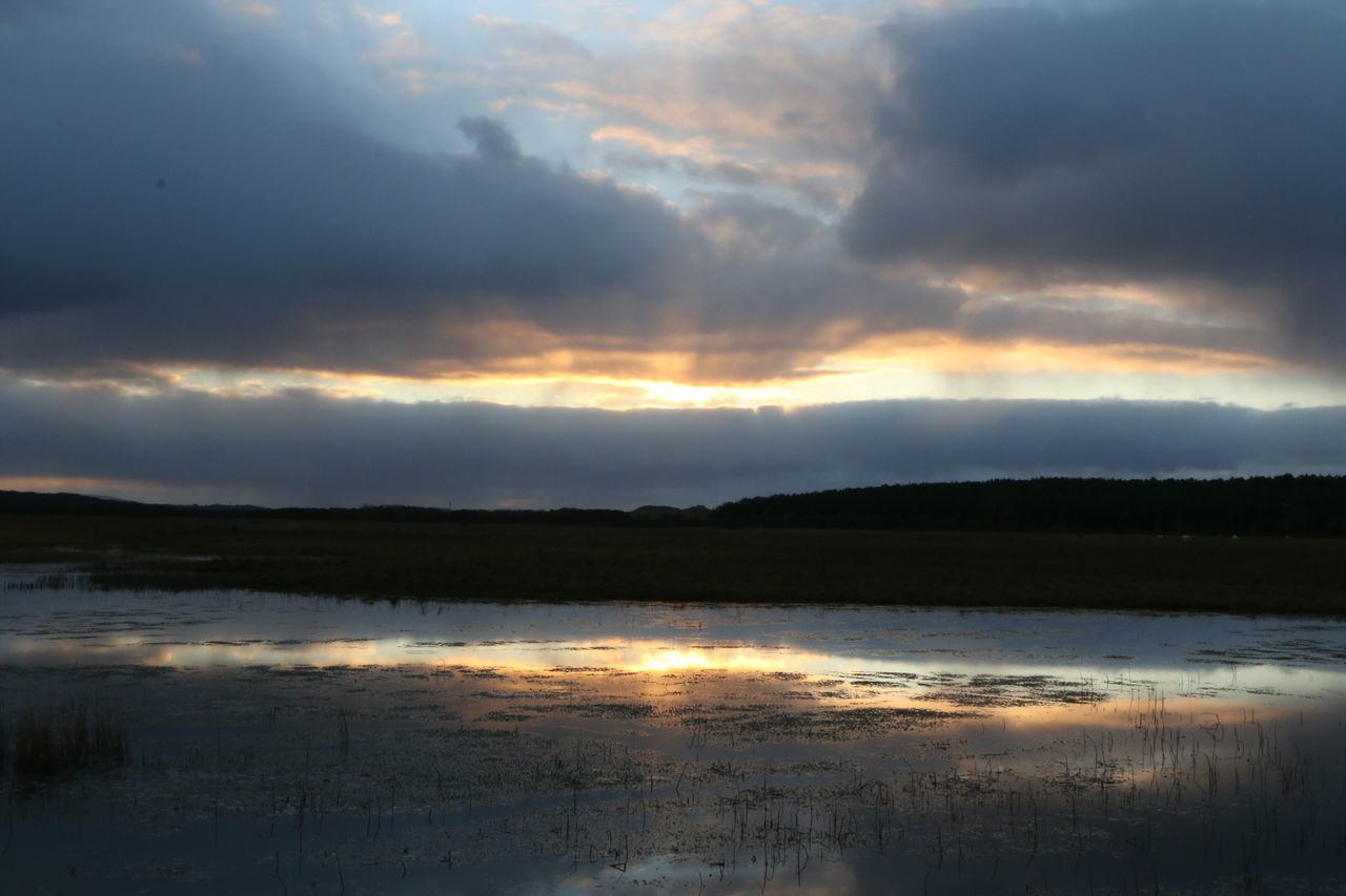 Adventure Cloud Explore Ireland Lake Lough Mirror Reflection Sunset