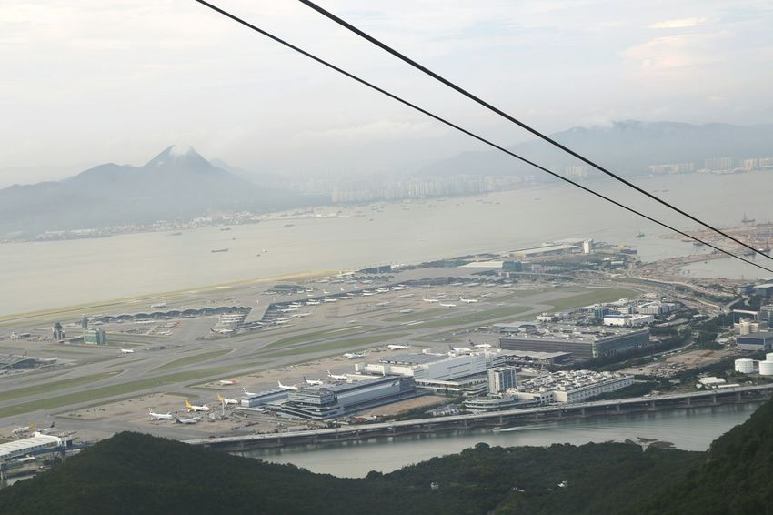 Aerial View Landscape Airportphotography Airport Airport Photography Mountain Mountains Lantau Hong Kong Being A Tourist. Travel Destinations Hongkongtrip 香港 Cablecars Cable Cars Taking Photos ❤ Travel Photography Traveling Tung Chung Hongkongcollection Airport Runway Hong Kong Airport Lantau Island HK Airport Cablecar