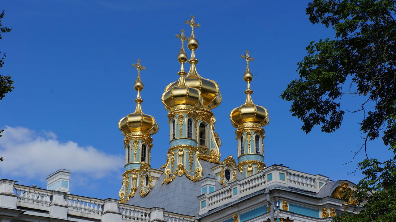 Architecture City Dome Gold Gold Colored Golden Towers No People Russia Sankt Petersburg Sky Towers Travel Travel Destinations