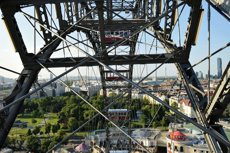 Viena, Austria Austria City Tourism Old Town Rear View Full Length Real People Amusement Park Metal Built Structure Rollercoaster Amusement Park Ride Day Outdoors Arts Culture And Entertainment Ferris Wheel Architecture No People Girder Sky Golf Club City