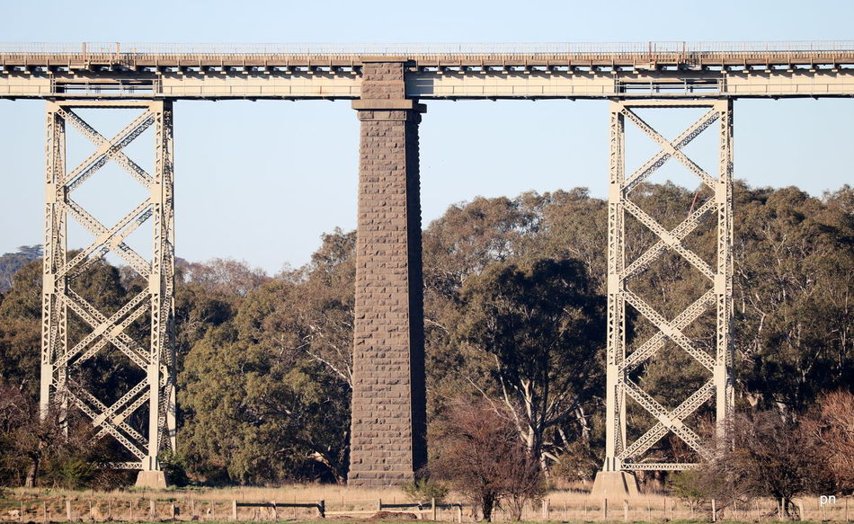 Architecture Built Structure Clear Sky Day Geelong History Landscape Lovely Banks Low Angle View Nature No People Outdoors Sky Train Bridge Train Line Viaduct Hidden Gem Lovely Banks